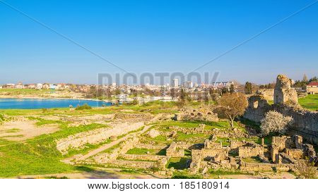 The ruins of the ancient city of Chersonesos in Sevastopol