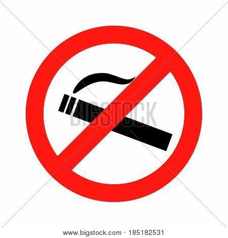 Dont smoke prohibition sign Vector Illustration design
