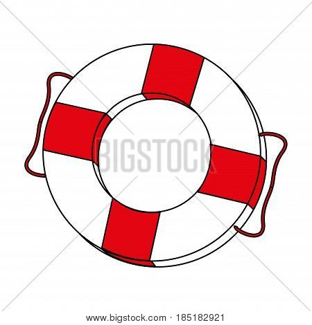 color silhouette image inflatable rings for rescue vector illustration