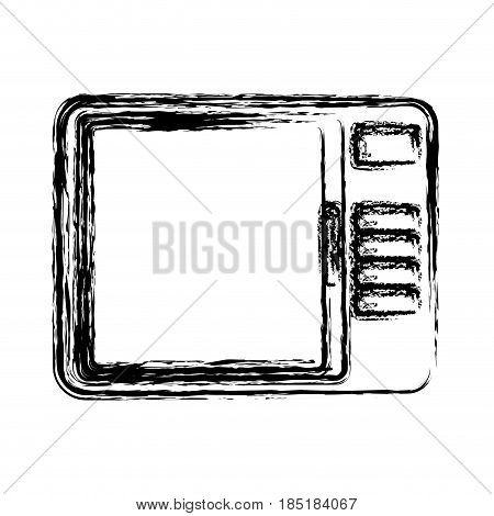 microwave icon over white background. home appliances concept. vector illustration