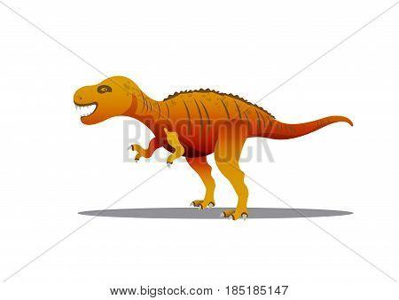 Tyrannosaur - Rex. Big and nice prehistorical Jurassic. Dinosaur Vector illustration. poster