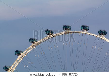 Singapore Downtown Marina Bay and Big Wheel