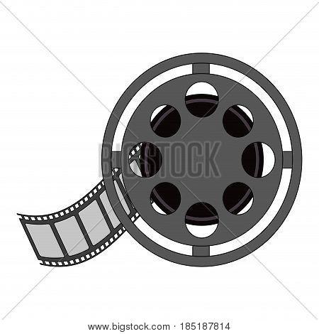color image cartoon film roll reel vector illustration