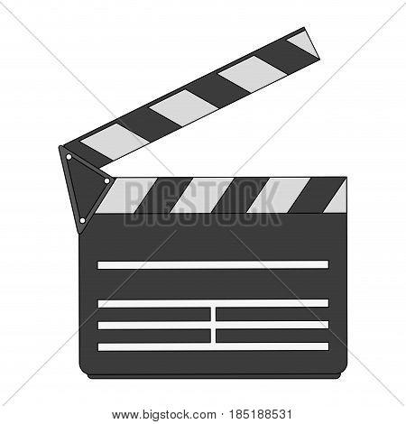 color image cartoon movie clapperboard icon vector illustration