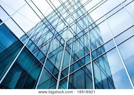 transparente Glaswand Bürogebäudes