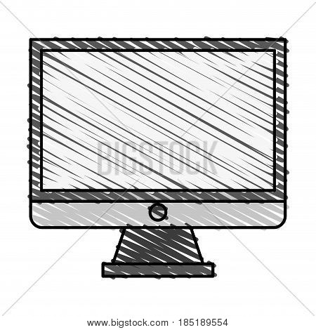 color crayon stripe image cartoon square lcd monitor screen vector illustration