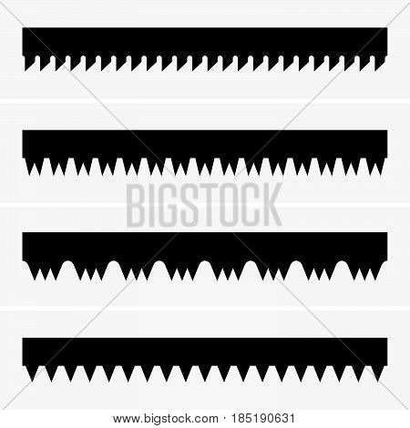Set of three saw teeth ( shade pictures )