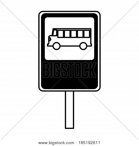 bus stop sign isolated icon vector illustration design
