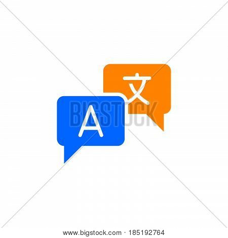 Language Translation Icon Vector, Filled Flat Sign, Solid Colorful Pictogram Isolated On White, Logo