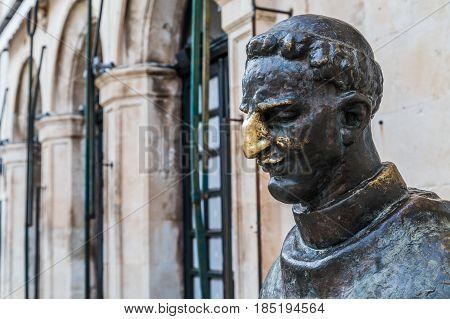 Statue Of Marin Drzic