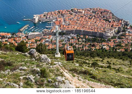 Dubrovnik - easily one of Europe's most stunning cities pictured on the edge of the Adriatic & at the foot of the Dalmatia region which hugs much of the country's coastline.