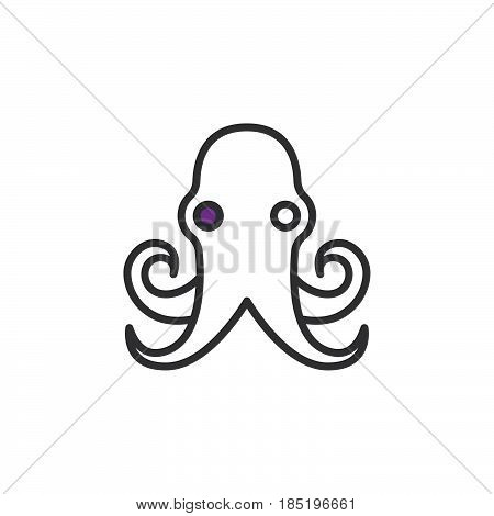 Shellfish icon vector filled flat sign solid colorful pictogram isolated on white logo illustration
