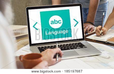 Literacy ABC Icon Alphabet Concept