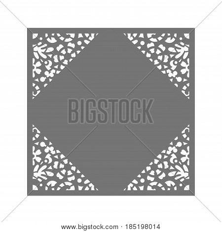 Laser cut flower vector photo free trial bigstock laser cut flower pattern for wedding invitation envelope vector template ready for printing postcards stopboris Image collections
