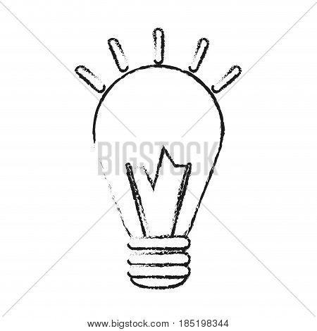 blurred silhouette image halogen light bulb with shiny vector illustration