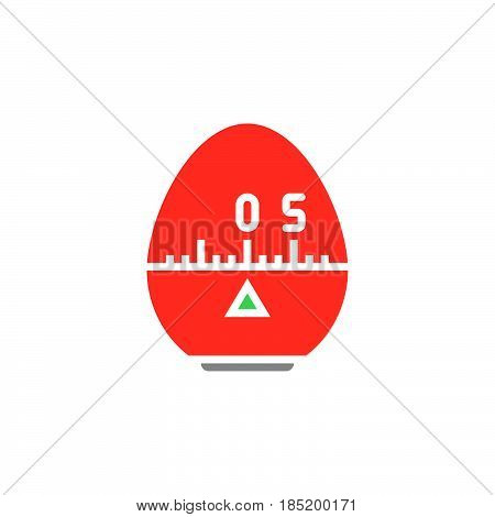 Kitchen Cooking Timer icon vector solid flat sign colorful pictogram isolated on white logo illustration