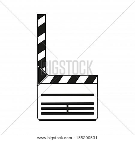 color silhouette image movie clapperboard icon vector illustration
