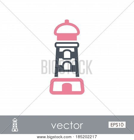 Lighthouse outline vector icon. Beach. Summer. Summertime. Vacation eps 10