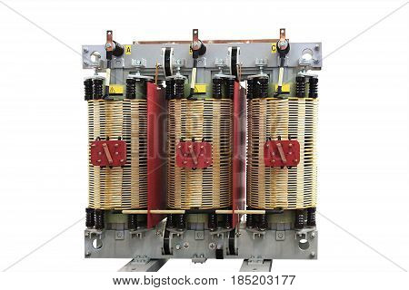 The voltage transformer power three-phase electric network