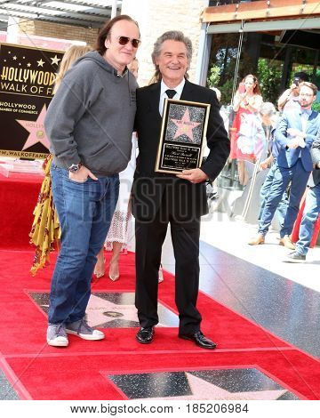 LOS ANGELES - MAY 4:  Quentin Tarantino, Kurt Russell at the Kurt Russell and Goldie Hawn Star Ceremony on the Hollywood Walk of Fame on May 4, 2017 in Los Angeles, CA