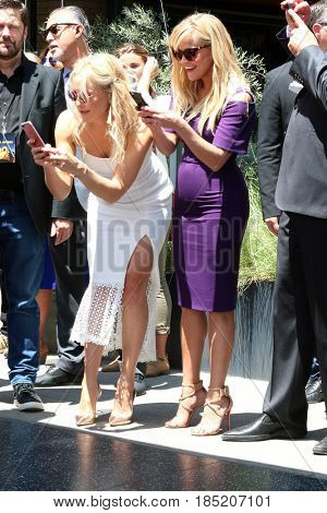 LOS ANGELES - MAY 4:  Kate Hudson, Reese Withspoon at the Kurt Russell and Goldie Hawn Star Ceremony on the Hollywood Walk of Fame on May 4, 2017 in Los Angeles, CA