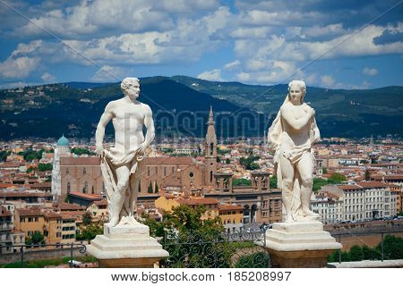 FLORENCE - MAY 20: Statue in Giardino Bardini on May 20, 2016 in Florence, Italy. Florence was a center of medieval European trade and finance and is the birthplace of the Renaissance