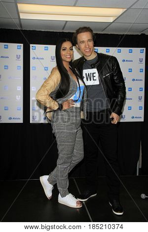 , LOS ANGELES - APR 27:  Lilly Singh, Craig Kielburger at the We Day California 2017 at The Forum on April 27, 2017 in Inglewood, CA