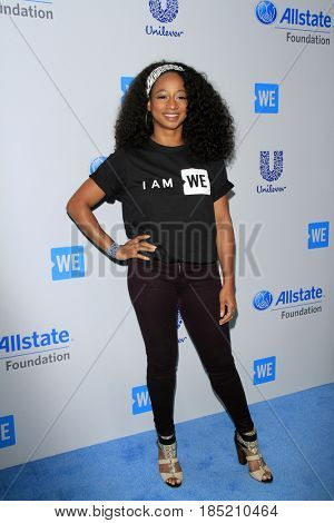 LOS ANGELES - APR 27:  Monique Coleman at the We Day California 2017 at The Forum on April 27, 2017 in Inglewood, CA