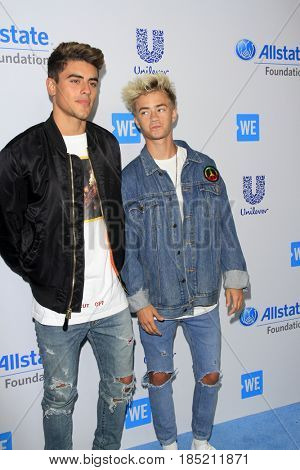 , LOS ANGELES - APR 27:  Jack & Jack, Jack Gilinsky, Jack Johnson at the We Day California 2017 at The Forum on April 27, 2017 in Inglewood, CA
