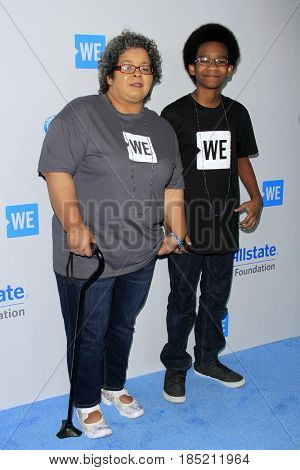 LOS ANGELES - APR 27:  Casey Smith, Donovan Smith at the We Day California 2017 at The Forum on April 27, 2017 in Inglewood, CA