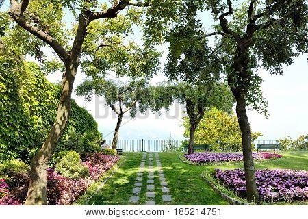 Ravello Amalfi Coast Italy - Belvedere Principessa di Piemonte gardens terrace