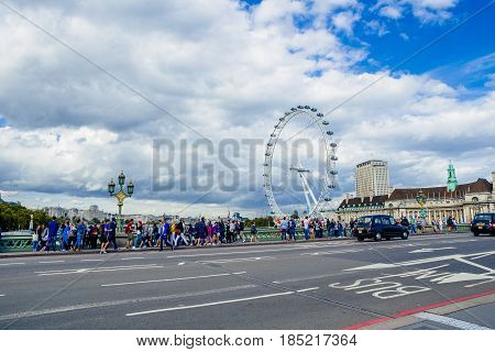 City View From The Westminster Bridge Including The London Eye