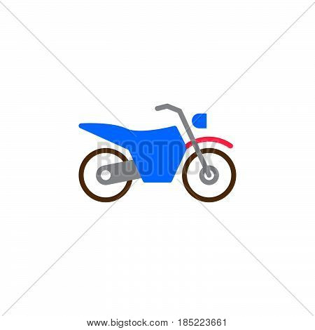 Dirt Bike Icon Vector, Motorcycle Filled Flat Sign, Solid Colorful Pictogram Isolated On White, Logo