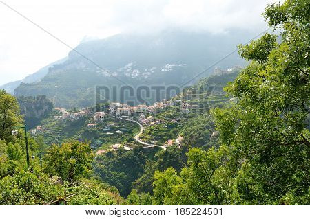 Ravello Amalfi Coast Italy - green hills scenic view