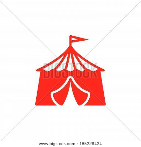 Circus Tent Icon Vector, Filled Flat Sign, Solid Colorful Pictogram Isolated On White, Logo Illustra