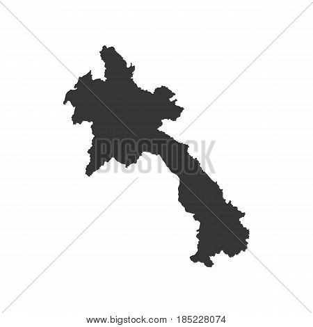 Laos map on the white background. Vector illustration