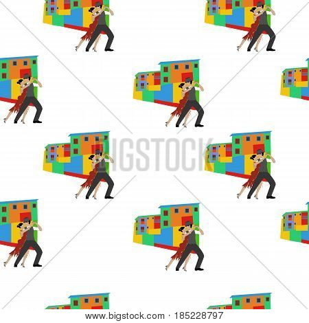 Tango dance seamless pattern on the white background. Vector illustration