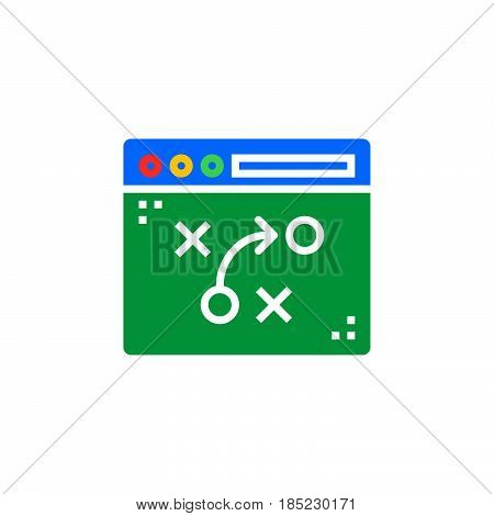 Tactics, Strategy Planning Icon Vector, Filled Flat Sign, Solid Colorful Pictogram Isolated On White