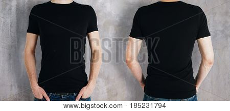 Man Wearing Black Shirt