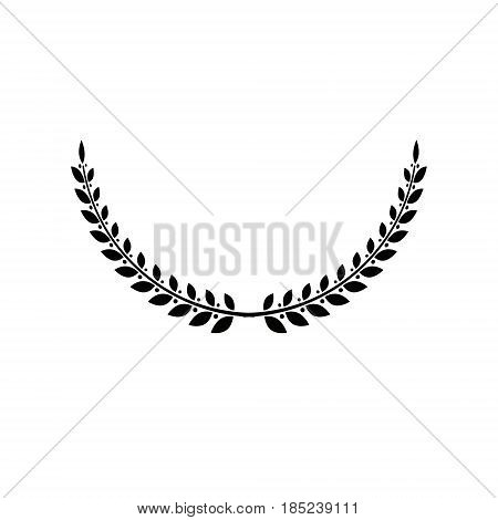 Laurel Wreath Floral Heraldic Element. Heraldic Coat Of Arms Decorative Logo Isolated Vector Illustr