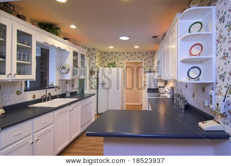 simple functional country kitchen