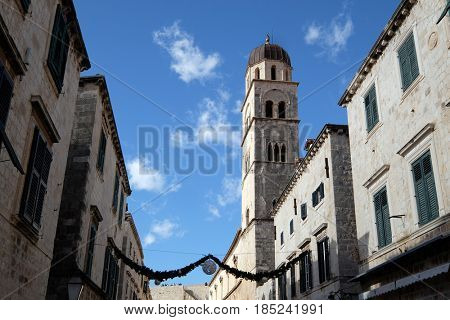 DUBROVNIK, CROATIA - NOVEMBER 07: Franciscan church of the Friars Minor in Dubrovnik, Croatia on November 07, 2016.