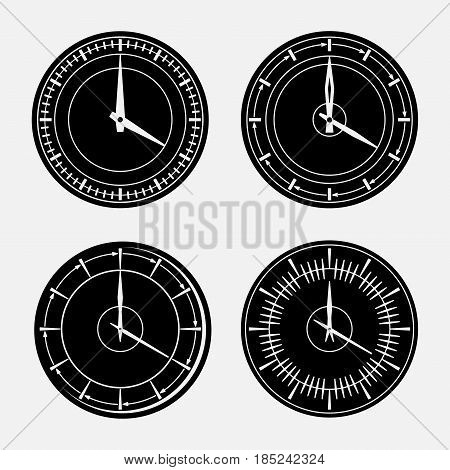 set hours clock icon 24 hour support outside of time time eskiz icons black watch fully edit vector image
