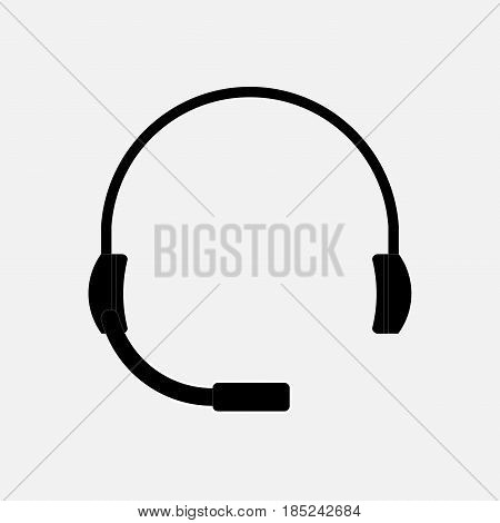 icon support headset help fully editable vector image