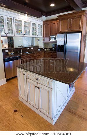 luxury kitchen in affluent home
