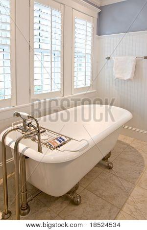 classical modern bathroom with clawfoot tub