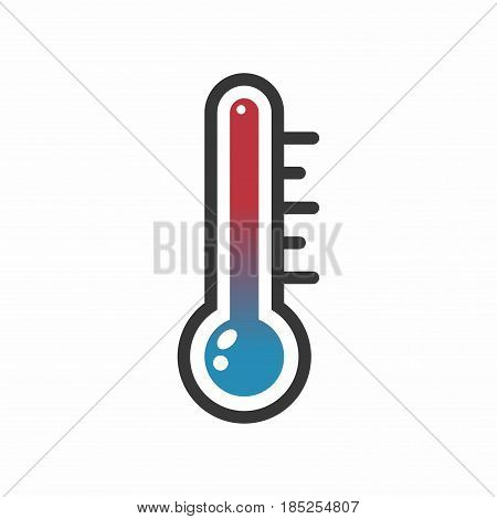 Thermometer. Vector icon isolated on white background.
