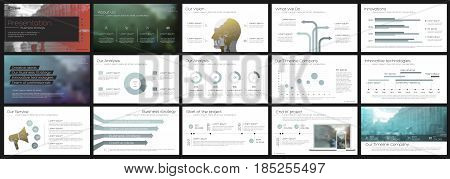 Elements for Presentation templates on a white background. Use in presentation, flyer and leaflet, corporate report, marketing, advertising, annual report, banner