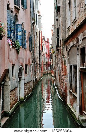 Venice lagoon - day view of a canal Venezia Italy Europe