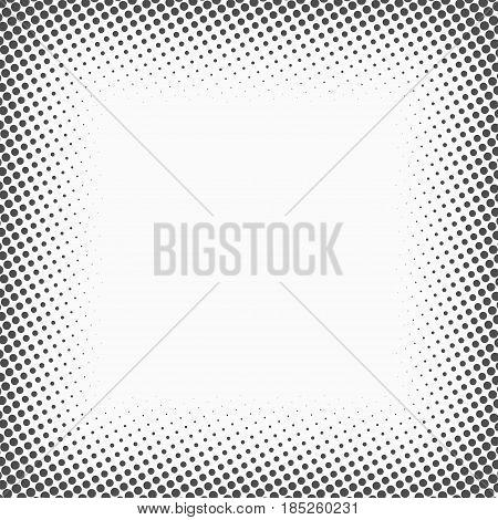 Halftone dots. Monochrome vector texture background for prepress DTP comics poster. Pop art style template